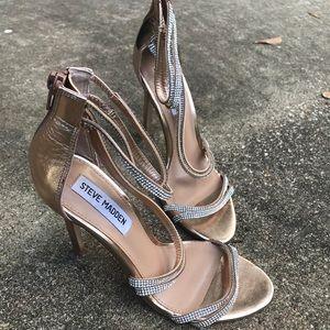 Steve Madden Diamond studded strap heels